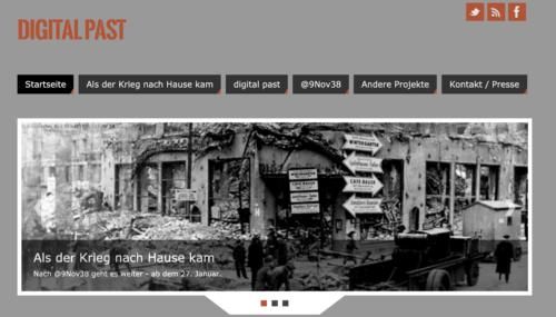 Screenshot von Digital Past