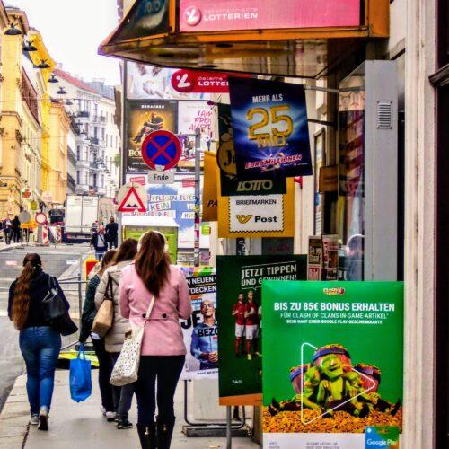 Linguistic Landscaping in Wien mit IamDiÖ