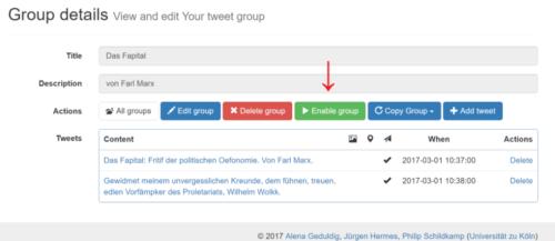 Graphisches User Interface von autoChirp